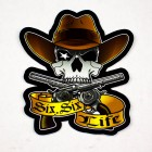 "Dmaxstore Six Six Cowboy 5"" Sticker"
